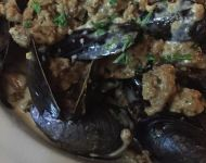 Mussels and Homemade Sausage